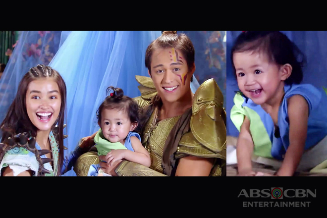 WATCH: Liza's cute baby sister stars in Bagani as Ganda & Lakas' baby